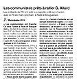 Les communistes prêts à rallier G. Allard