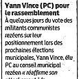 Yann Vince pour le rassemblement