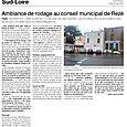 Ambiance de rodage au conseil municipal de Reze